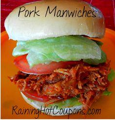 Crock-Pot Pork Manwiches Recipe