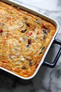 Andouille Sausage Breakfast Burrito Casserole | Bakerbynature