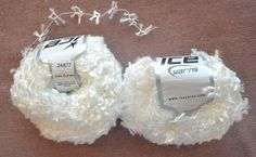 White Ice Yarn 2 Skeins 50 g/100 1.76 oz/109 yds Each Flag Butterfly Carry Along #Ice #CarryAlong