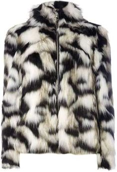 Shop for Black and White Faux Fur Coat on ShopStyle.com