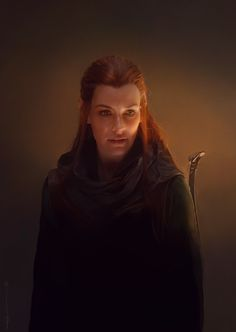 Tauriel - The Hobbit - Euclase (digital painting, not a photo) Legolas, Kili And Tauriel, Thranduil, Hobbit Art, The Hobbit, Lotr, Mirkwood Elves, Avatar, Desolation Of Smaug
