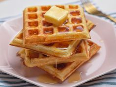 Buttermilk Waffle Recipe For Two. Yeasted Buttermilk Waffles With Lemon Honey Ricotta The . Waffle Recipe For Two, Waffle Recipes, Brunch Recipes, Pancake Recipes, Crepe Recipes, Waffle Recipe Food Network, Food Network Recipes, Cooking Recipes, What's Cooking