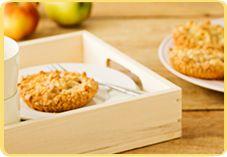 Recept voor Kleine Appel-Perzik Kruimeltaartjes
