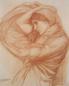 John William Waterhouse - Boreas study