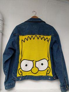 Customised Denim Jacket, Painted Denim Jacket, Denim Jacket Men, Vintage Chic Fashion, Paint Shirts, Images Esthétiques, Denim Art, Painted Clothes, Look Fashion