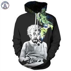 Original 3D Printed Smoking Einstein Men Women Sweatshirt   Price   39.45    FREE b4e78f7f4c1