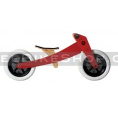 Wishbone Red Edition Balance Bike configured for 2-3 year olds