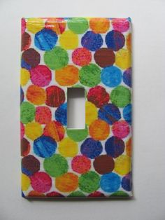 Eric Carle Inspired Polka Dot Switch Plate by LaurenRoos on Etsy, $6.00