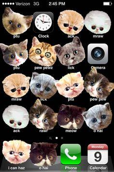 Transformez les applis iPhone de quelqu'un en chats.