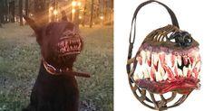 Halloween dog muzzle