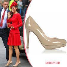 Kate's shoes - LK Bennett nude Sledge platform shoes