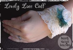 Project Party Weekend and Lovely Lace Cuff Tutorial (TP Roll) - Sprinkle Some Fun Unusual Jewelry, Diy Jewelry, Jewelry Ideas, Handmade Jewelry, Mode Mori, Paper Towel Crafts, Fabric Bracelets, Macrame Bracelets, Lace Cuffs
