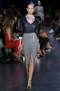 Vanessa Friedman: One of the best gingham moments of the season, this Joseph Altuzarra look will translate to retail everywhere. (Photo: Nowfashion)