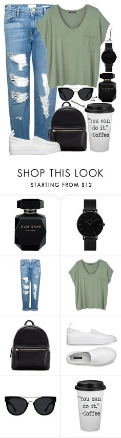 """#36"" by oneandonlyfashion ❤ liked on Polyvore featuring Elie Saab, CLUSE, Frame, MANGO, Forever 21, Quay and Topshop"