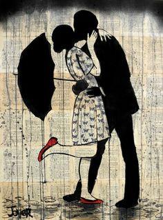 """Saatchi Art Artist Loui Jover; Drawing, """"butterflies, love and rain"""" #art"""