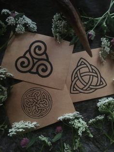 Handmade cards with Celtic knotwork — NorneWoven Kraft Paper, Greeting Cards Handmade, Paper Shopping Bag, Celtic, Recycling, Birthdays, Prints, Anniversaries, Birthday