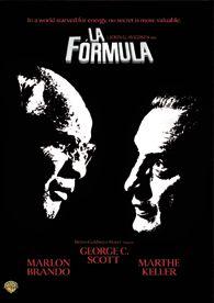DVD CINE 1515 - La fórmula (1980) EEUU. Dir.: John G. Avildsen. Nazismo. Sinopse: en 1945, un xeneral alemán consegue esconder en Suíza importantes documentos secretos. En 1980, unha serie de asasinatos e pistas conducen ao descubrimento dun plan para recuperar eses documentos que conteñen unha fórmula que permite transformar o carbón en petróleo.