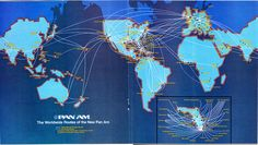 Worldwide Routes of the New Pan Am - 1981