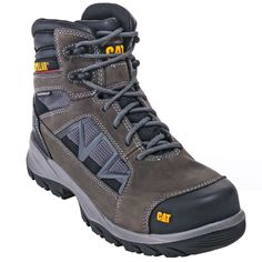 e4eed5e2e One of the best CAT Caterpillar Boots Men s 90553 Waterproof Composite Toe  EH Grey Boots.