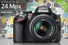 Câmera Profissional Nikon D3200 com 24 Mpx, por apenas R$1899.90