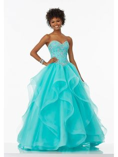 Ball Gown Sweetheart Beaded Long Blue Prom Dresses 5604041