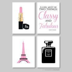 French Chanel Print Quad Nursery. Kid. door RhondavousDesigns2, $30.00