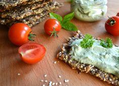 vegan and gluten-free thin bread seed crackers - The Puur Seed Crackers Recipe, Vegan Gluten Free, Paleo, Avocado Toast, Spaghetti, Seeds, Healthy Recipes, Snacks, Vegetables