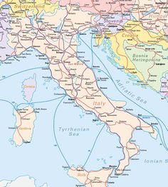 Awesome Map Of Italy Portofino Maps Of Italy And Itineraries In