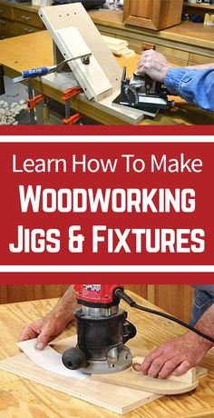 Woodworking jigs add a level of beauty and stability in any woodworking project. Check out our woodworking jig and fixtures videos to learn how to use a jig. What to really customize your workpiece? Customize your own pattern by learning how to make DYI homemade woodworking jigs.