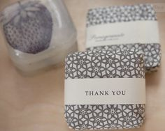 Love the patterned paper. A very simple yet elegant soap packaging.