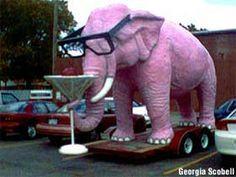 Pink Elephant in Springfield, Illinois