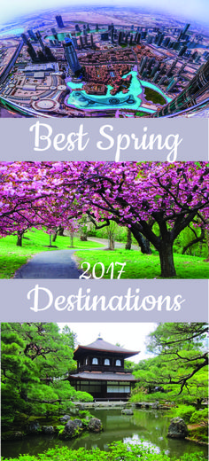 Exotic beaches, golden coasts, natural treasures, and cultural breaks in Florida, Dubai, Kyoto and Valencia are just some of the best spring destinations.