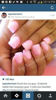 This color >>>>Pink sparkle solar nail Gorgeous Nails, Love Nails, How To Do Nails, Pretty Nails, My Nails, Pink Sparkle Nails, Pink Nails, Glitter Nails, Pink Sparkles
