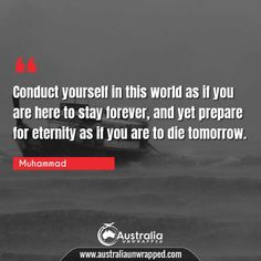 Meaningful & Inspirational Quotes by Prophet Muhammad - Australia Unwrapped Best Inspirational Quotes, Best Quotes, Perfection Quotes, Historical Quotes, Good Deeds, Human Mind, Prophet Muhammad, One Life, Understanding Yourself
