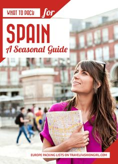 What to Pack for Spain Vacations: Year Round Packing List Packing List For Travel, New Travel, Spain Travel, Travel Style, Europe Packing, Packing Tips, Summer Hats, Summer Girls, Europe Fashion
