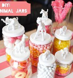 DIY Toy animal (candy) jars / Állatos tárolók műanyag állatfigurákból / Mindy - creative craft ideas