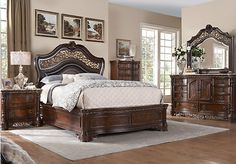 Shop for a Handly Manor 5 Pc King Bedroom at Rooms To Go. Find King Bedroom Sets that will look great in your home and complement the rest of your furniture.