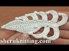 Crochet  Asymmetrical Double Sided Flat Leaf Tutorial 35 - YouTube