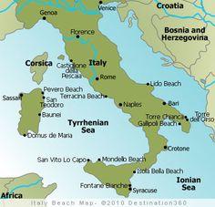 Italy Beaches Map