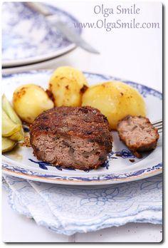 Kotlety mielone z pieczarkami Steak, Beef, Recipes, Food, Meat, Essen, Steaks, Meals, Eten