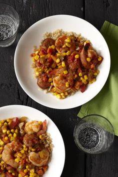 Creole Sausage and Shrimp #FamilyCircleHealthyFamilyDinners #slowcooker