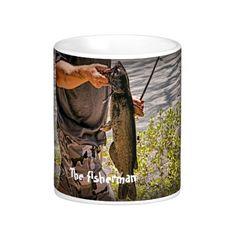 The fisherman, on a mug