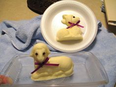 HOW to make a butter lamb {Easter}