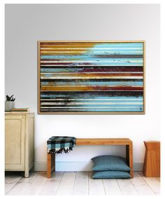 Painting Abstract Art Canvas Wall art Long striped by RonaldHunter