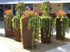3 Playful Clever Tips: Artificial Plants Outdoor Garden Ideas artificial garden plants planters.Artificial Flowers For Hair artificial plants outdoor green walls. Succulent Landscaping, Succulent Gardening, Succulent Pots, Succulents Garden, Garden Pots, Planting Flowers, Plant Pots, Potted Plants, Tall Succulents