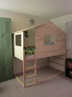 The Kura bed is a perfect loft bed except for the fact that it's remarkably ugly. True, IKEA sells a tent top, but with a jigsaw, two pieces of plywood, and a scrap piece of 1X2 pine, you ca…