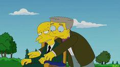 Montgomery Burns y Smithers