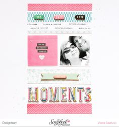 Moments by Veera #Scrapbooking #CratePaper #MaggieHolmes