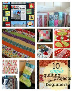 10 Simple {FREE} Quilting projects for beginners PLUS lots of great resources for first time quilters