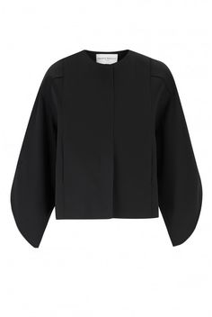 Amanda Wakeley | Form Black Satin Bomber Jacket | Amanda Wakeley